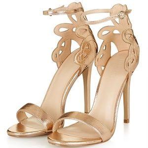 Topshop Copper heels